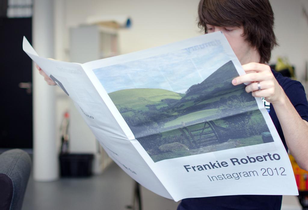 Frankie Roberto's Instagram 2012 newspaper