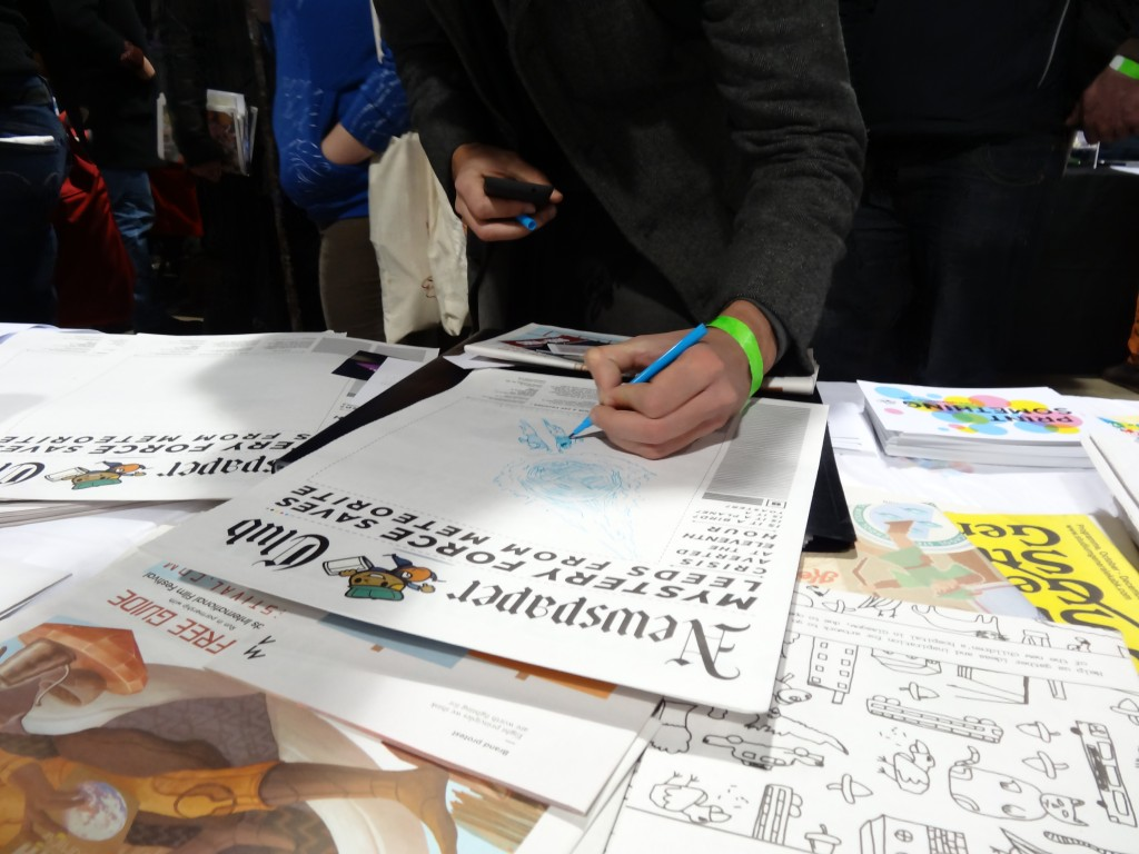 Miguel from Spain drawing at Thought Bubble