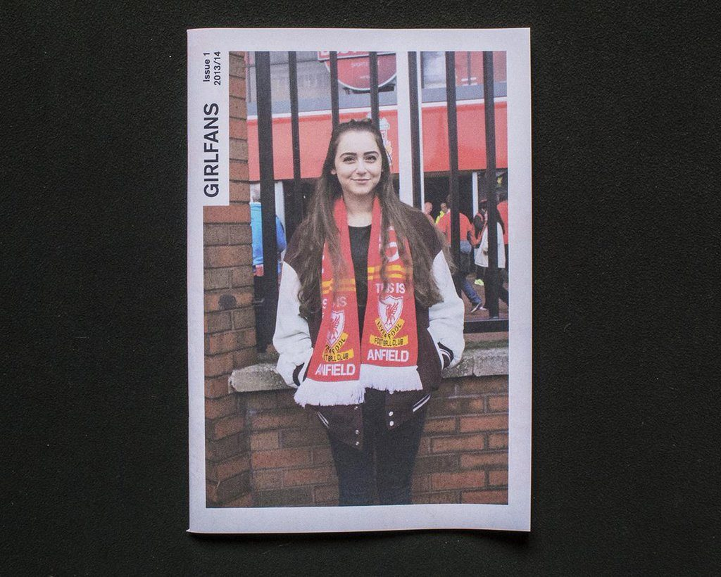 Girlfans football zine by Jacqui McAssey. Printed as a digital mini newspaper by Newspaper Club.