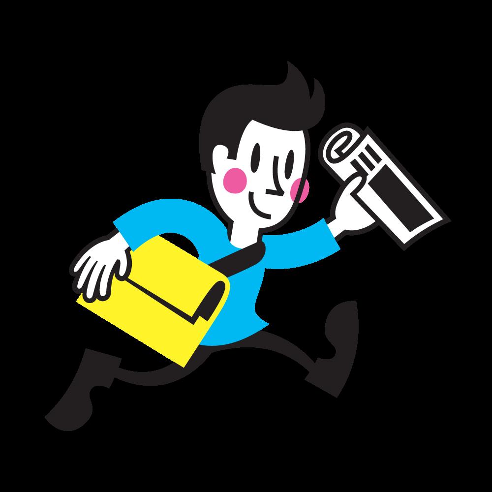 Newspaper Club Russell Mascot