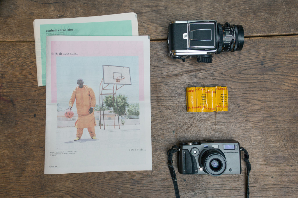 Asphalt Chronicles Issue 02: Dakar. A newspaper by Kevin Couliau documenting pick up basketball in Senegal.