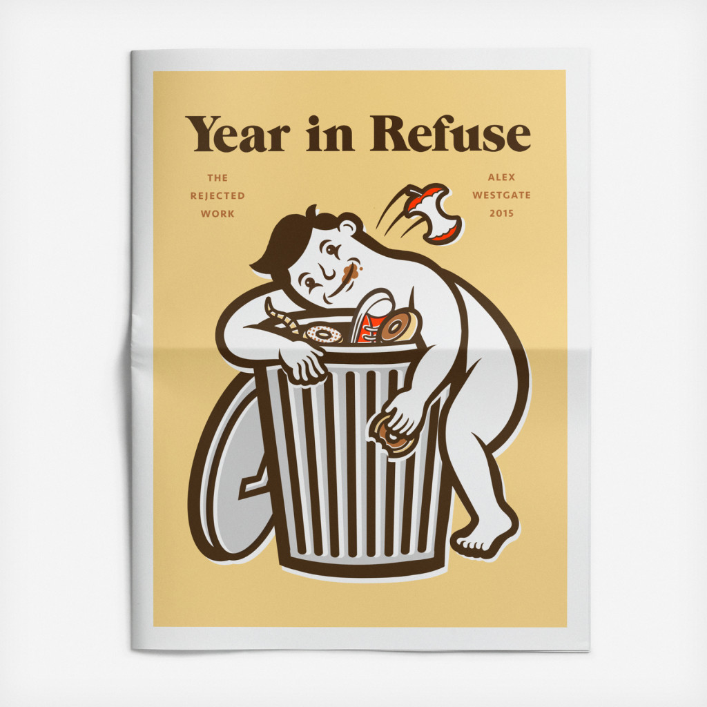 Year in Refuse illustration newspaper by Alex Westgate
