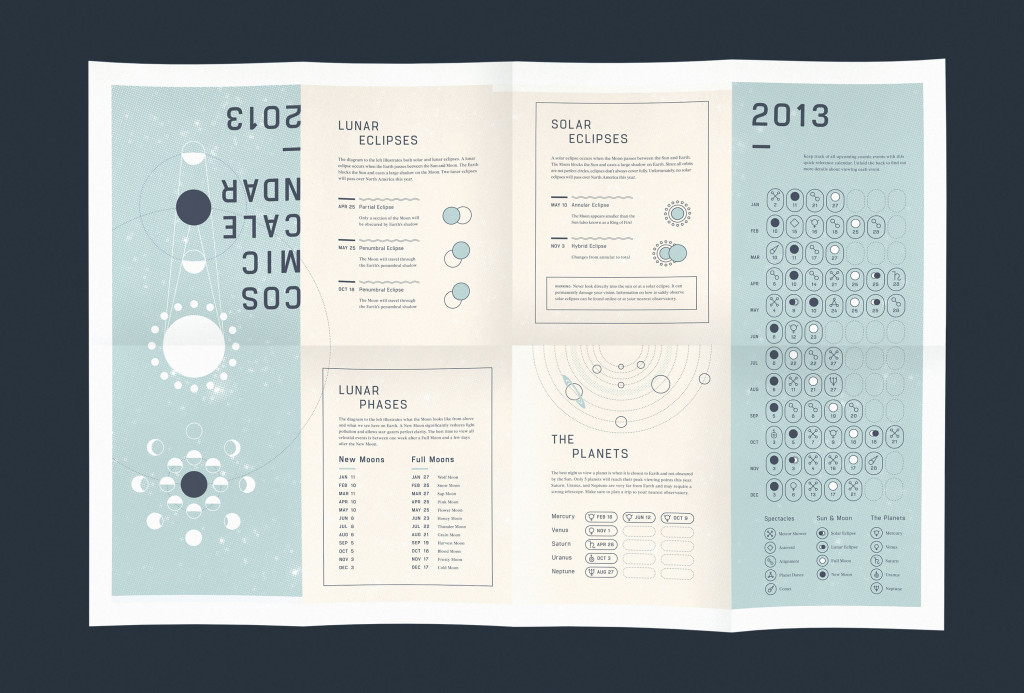 Cosmic Calendar Digital Tabloid Newspaper by Michelle Merlin