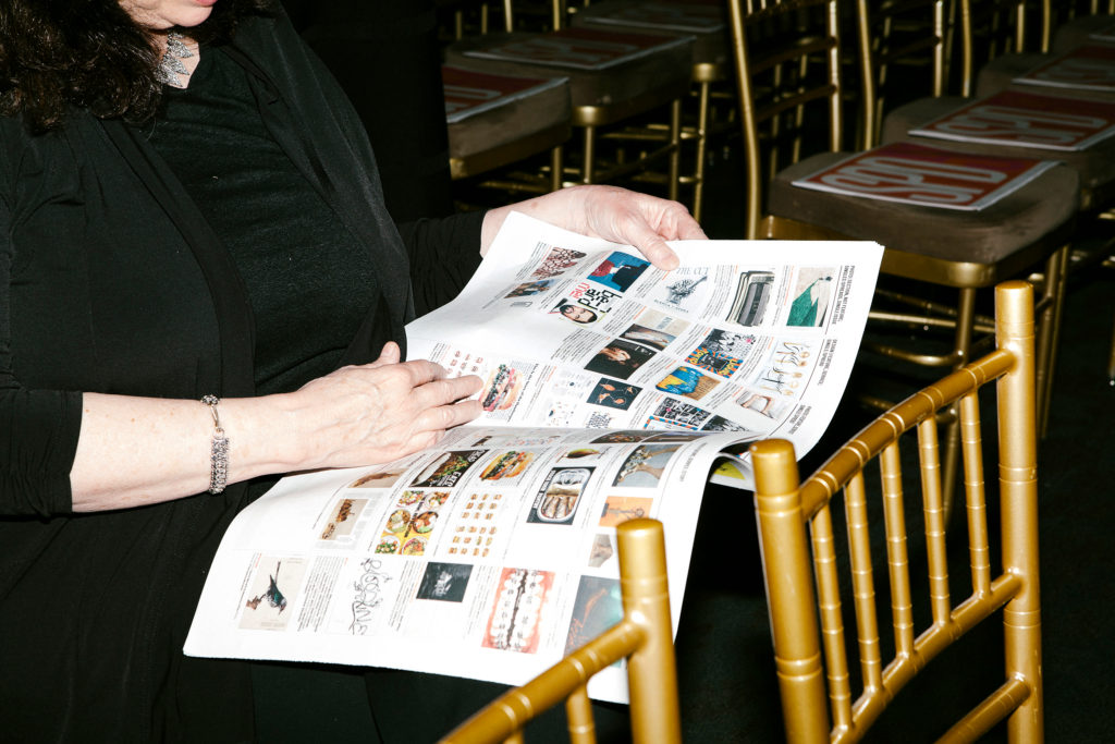 Traditional tabloid programme for Society of Publication Designers Awards Gala 2016