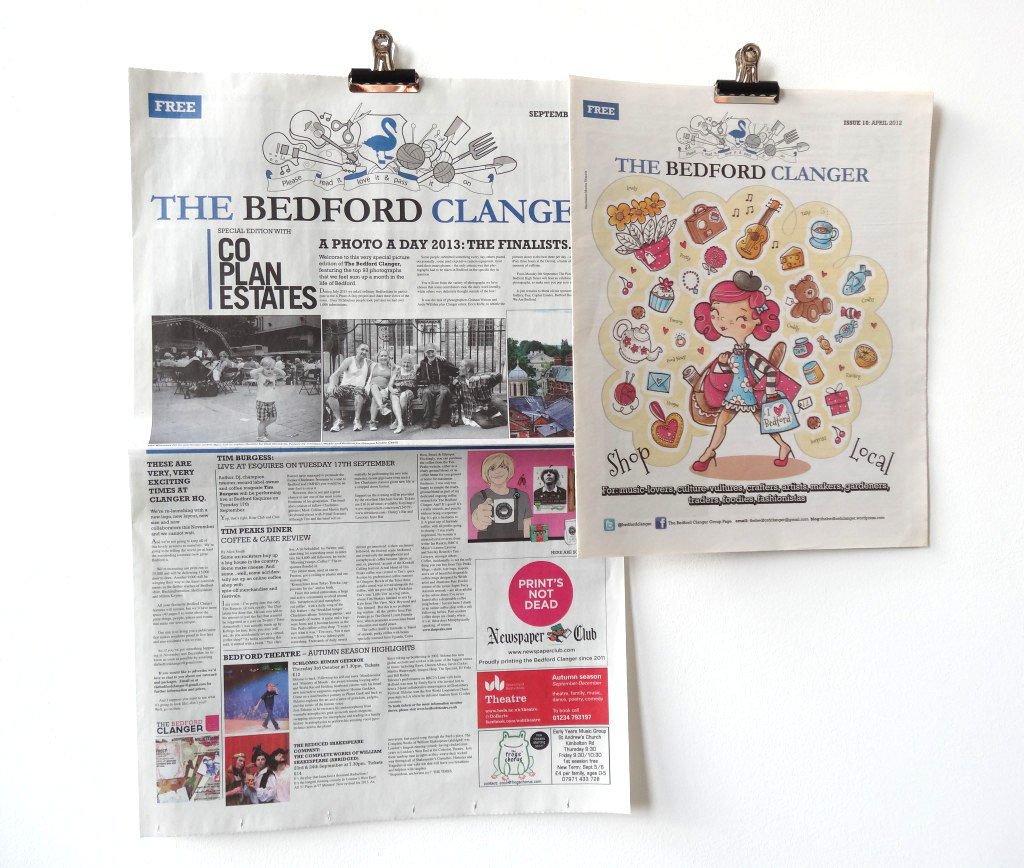 The Bedford Clanger celebrated 5 years in newsprint
