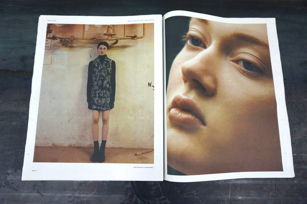 Proemes de Paris newspaper lookbook