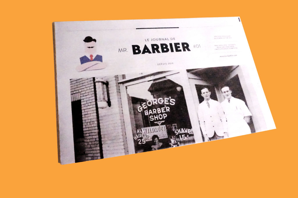 Father's Day tabloid newspaper - Monsieur Barbier