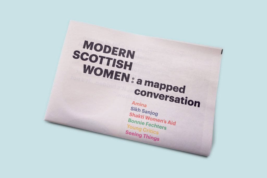 Modern Scottish Women newspaper for National Gallery of Scotland and the Glasgow Women's Library