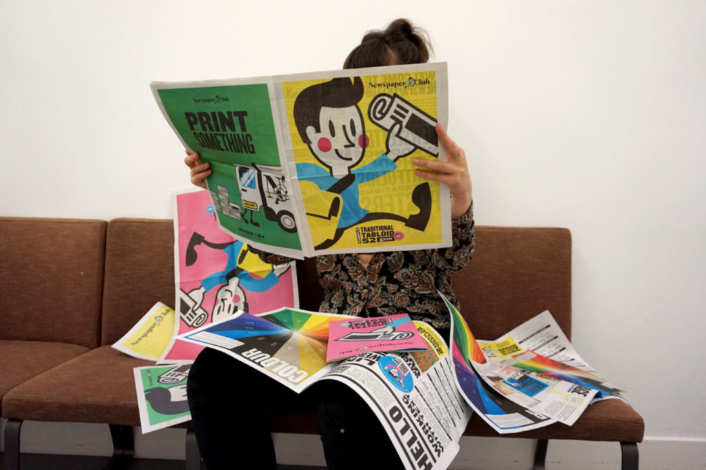 New sample newspapers from Newspaper Club