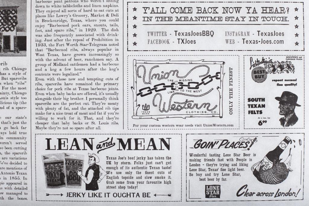 Big Smoke Signal Texas Joe S Menu Brings Barbecue History To London Newspaper Club