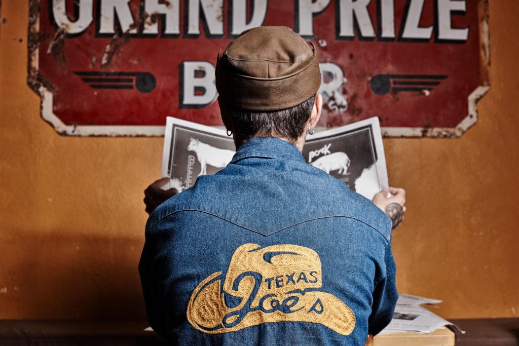 The Big Smoke Signal newspaper menu for Texas Joe's barbecue restaurant in London