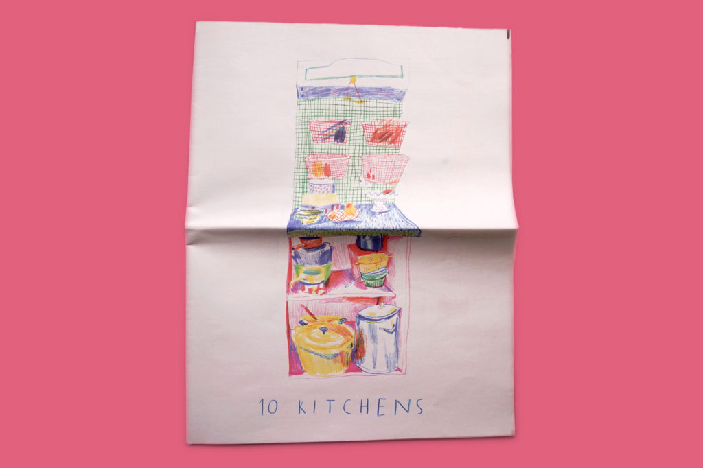 10 Kitchens illustrated newspaper by Lucy Payne
