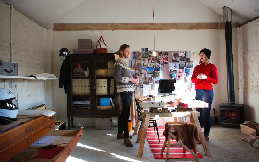 Rosie and Ben Broad in the sunny TINCT studio