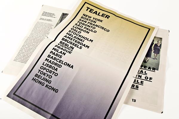 Graphic design newspaper for tea concept Tealer