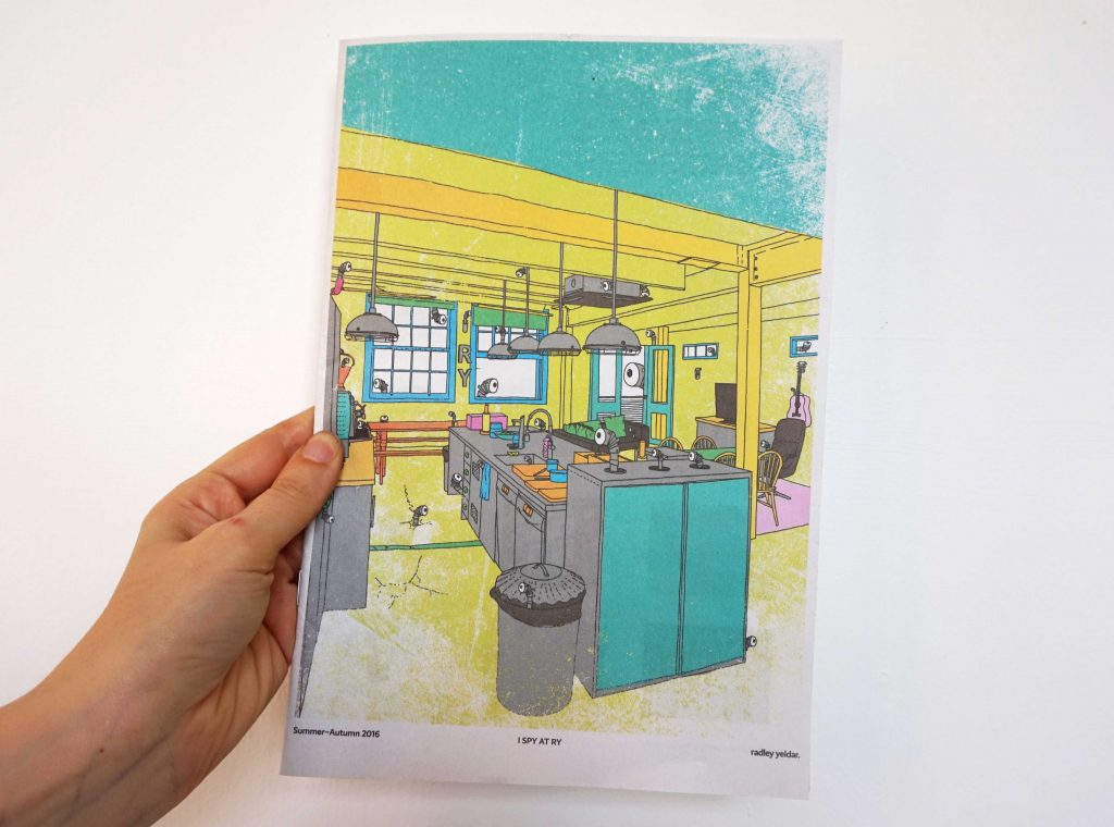 Internal newsletter I Spy by Radley Yeldar. Printed by Newspaper Club.