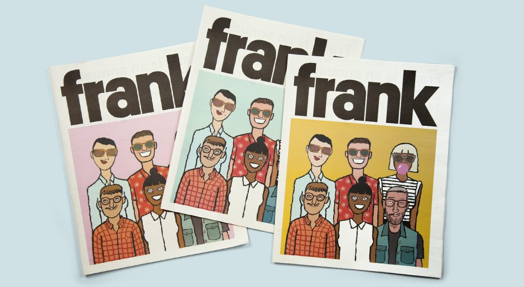 Annual newspaper for Handsome Frank illustration agency. Printed by Newspaper Club.
