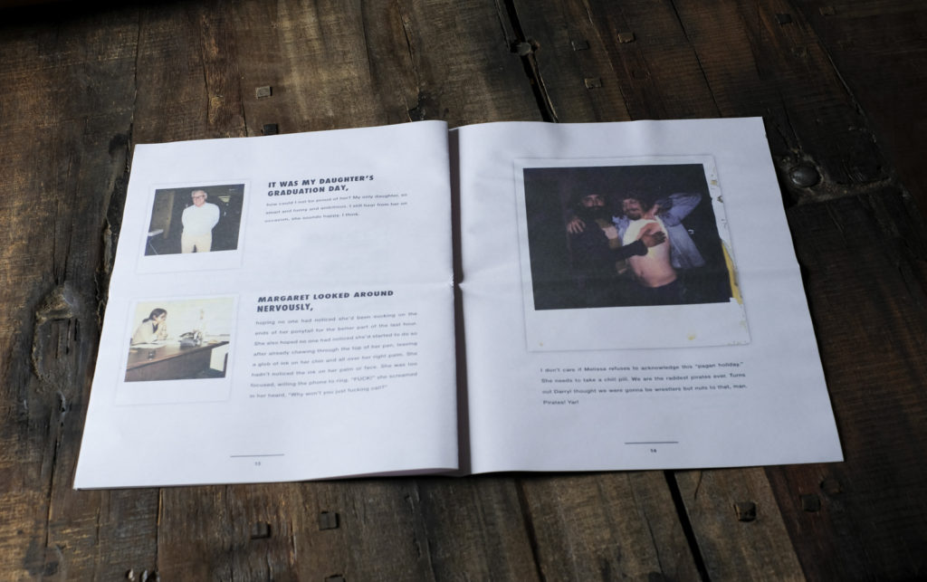 Mysterious histories in Found Polaroids newspaper by Kyler Zeleny. Printed by Newspaper Club.