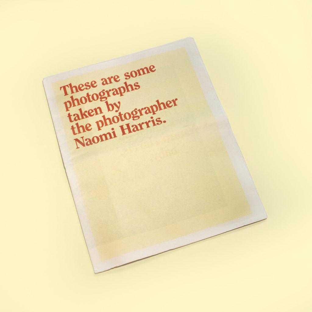Newspaper portfolio for photographer Naomi Harris. Designed by Noah Phillips.