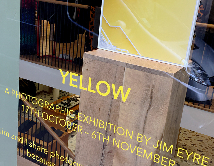 YELLOW exhibition by photographer Jim Eyre. On view at Paul Smith in London 17th October – 6th November. Newspaper catalogue printed by Newspaper Club.
