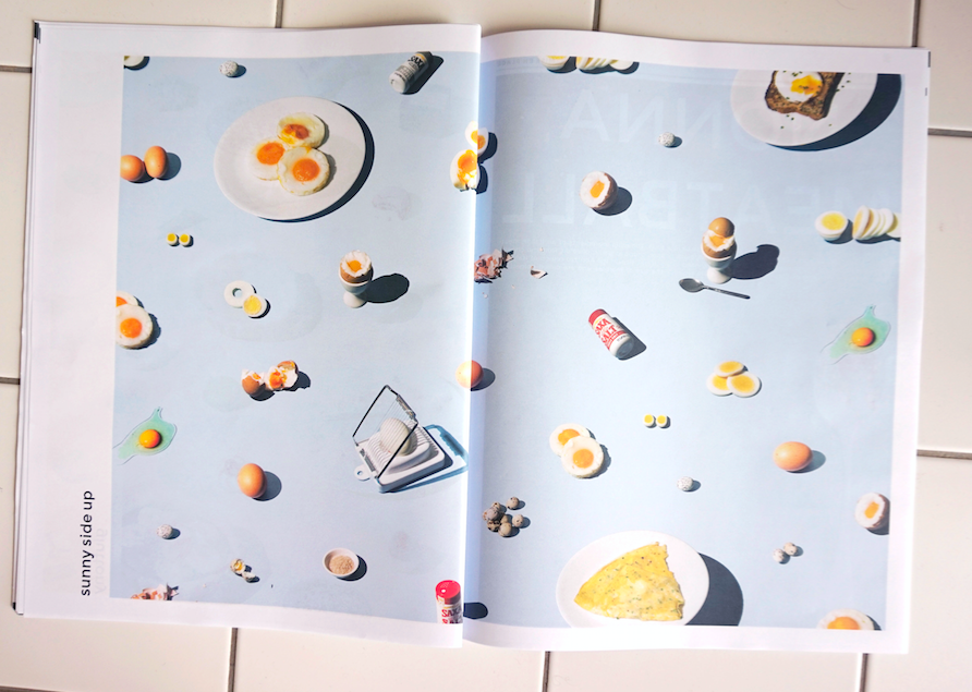 Mise En Place food photography newspaper by Kristian Beek