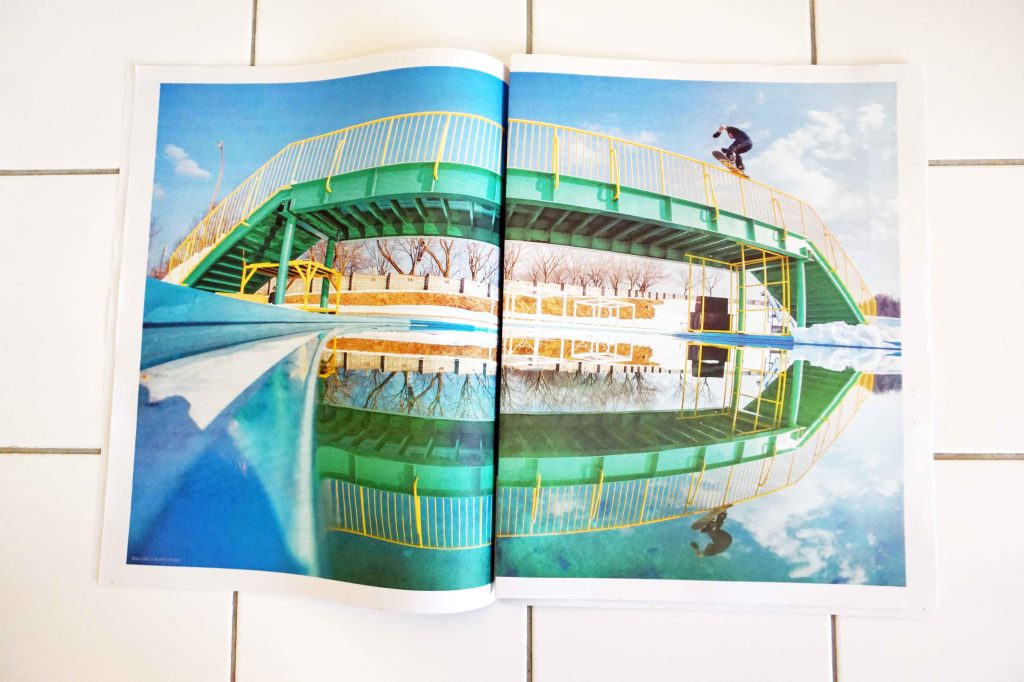 Vans First Layer newspaper with photography by Matt Georges. Printed by Newspaper Club.