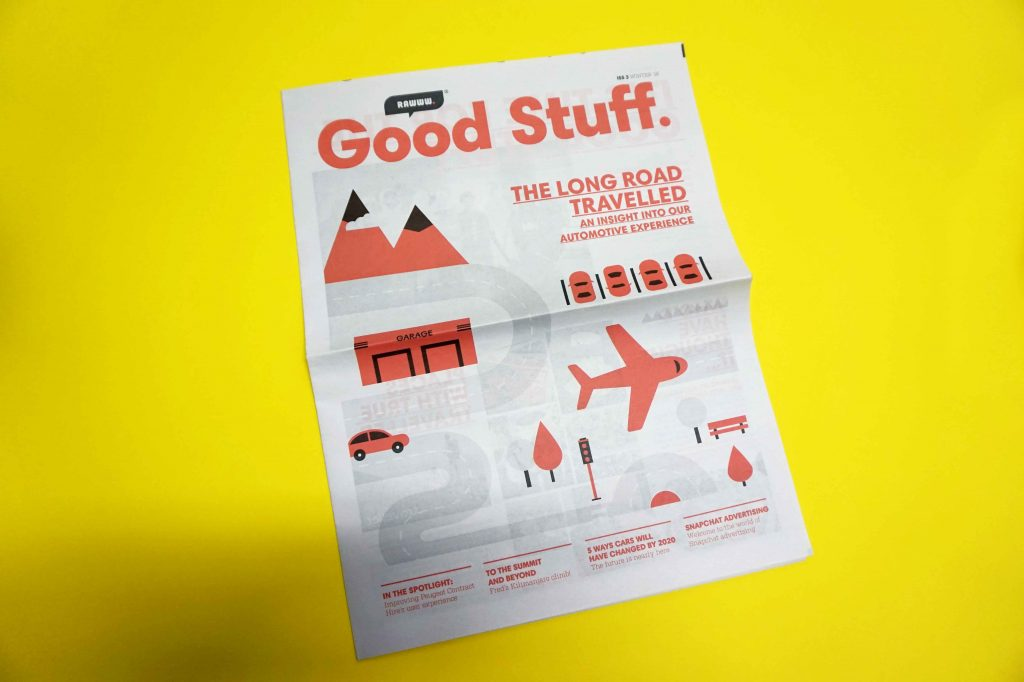 Good Stuff newspaper by Rawww. Printed by Newspaper Club.