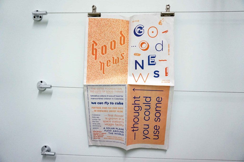 """Good News"" newspaper by DEI Creative. Printed by Newspaper Club."