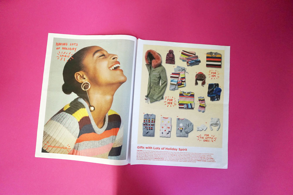 Holiday catalogue for Gap. Printed by Newspaper Club.
