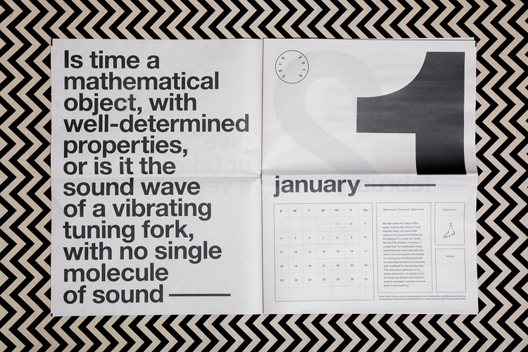 Newspaper calendar by Joe Granato. Printed by Newspaper Club.