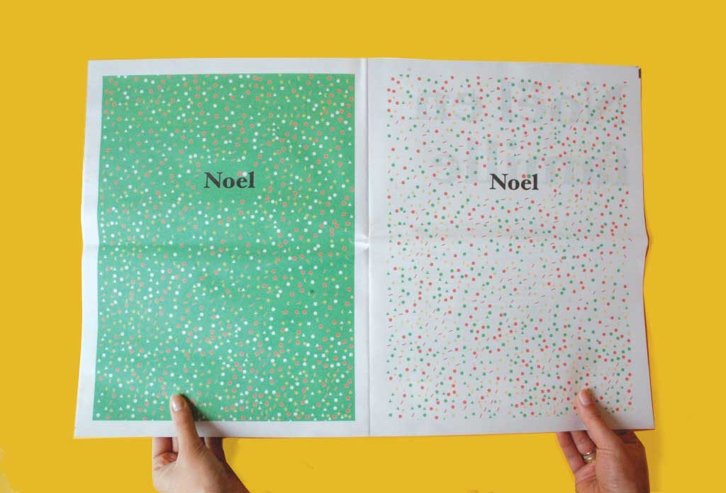 Noel holiday newspaper by Pierre-Antoine Arlot. Printed by Newspaper Club.