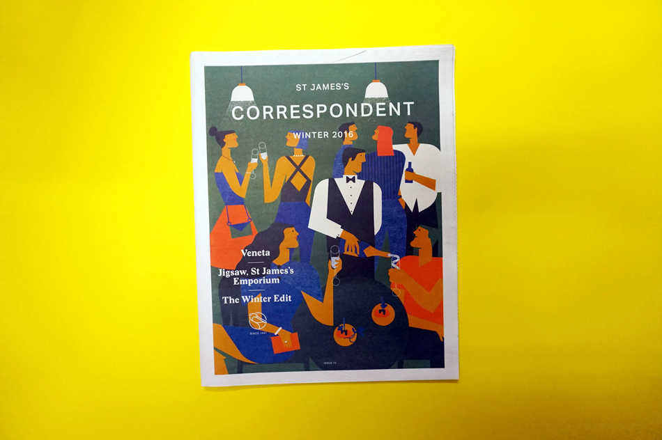 The St. James's Correspondent by dn&co. Printed by Newspaper Club.