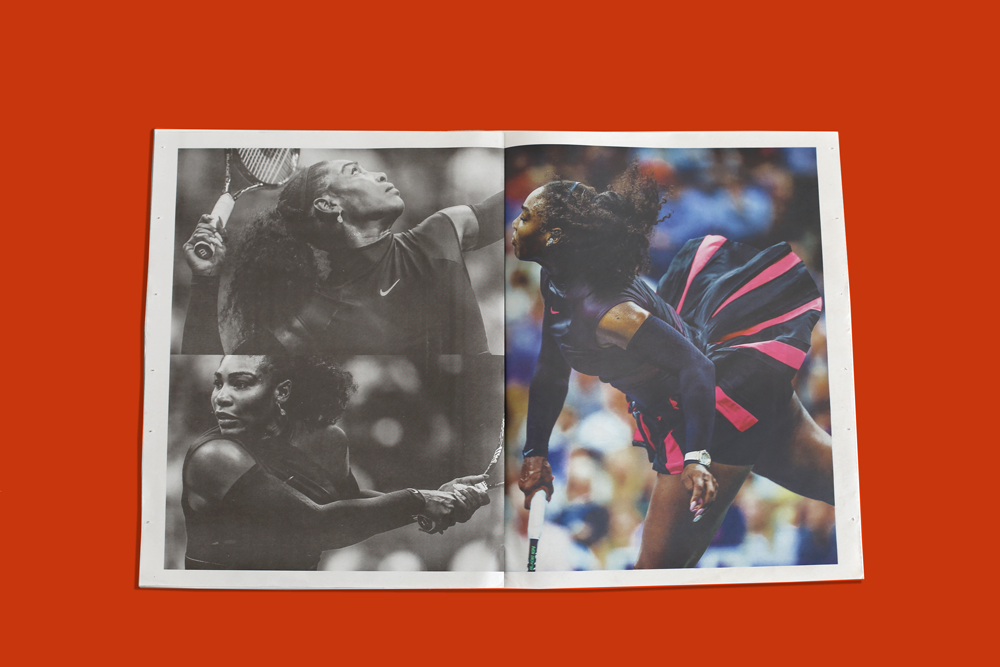 Serena Williams photography newspaper by Nicholas Laham. Make and print your own newspaper at www.newspaperclub.com