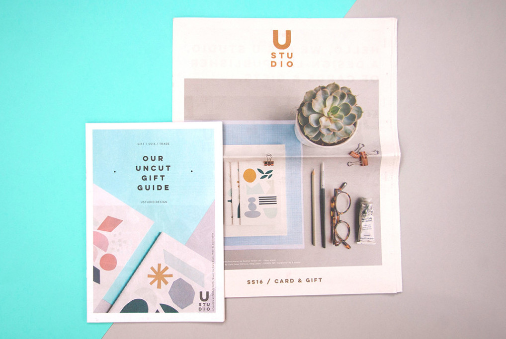 U Studio newspaper catalogue, filled with stationery, cards and gifts. Make and print a newspaper with Newspaper Club.