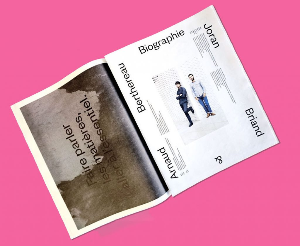 Newspaper of the Month: Studio Joran Briand design portfolio. Make and print your own newspaper with Newspaper Club www.newspaperclub.com