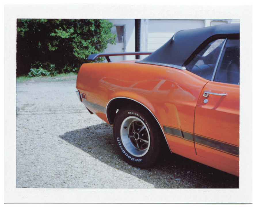 Found on Roadside Dead, a newsprint photozine celebrating the beauty of American cars by Polaroid photographer David McCarty
