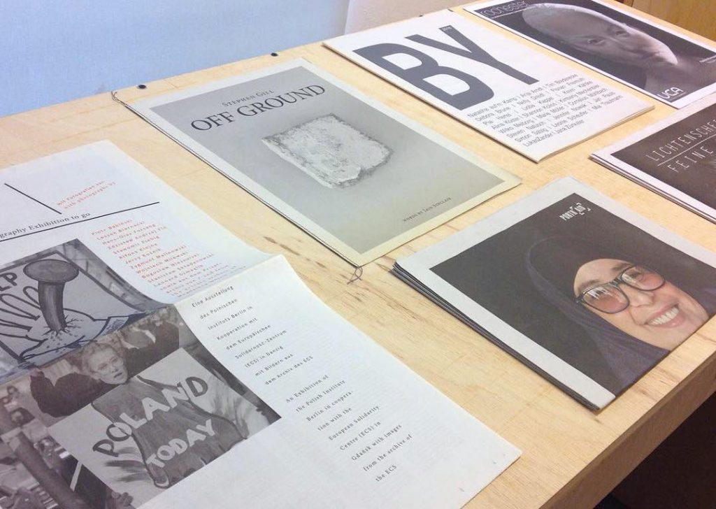 "Newsprint Photobook exhibition, ""On Books and Photography"", at Buchlabor, University of Applied Sciences in Dortmund"