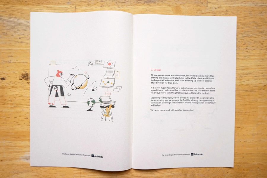 A handy step-by-step guide to the animation production process from Animade. Printed by Newspaper Club. www.newspaperclub.com