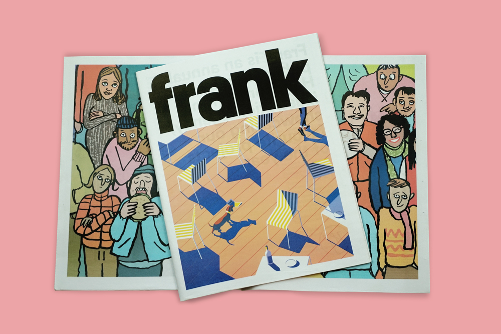 Handsome Frank illustration agency uses a newspaper to keep in touch with clients all over the world. See where the latest issue has ended up by following #FrankPaper. Make and print your own newspaper with Newspaper Club www.newspaperclub.com
