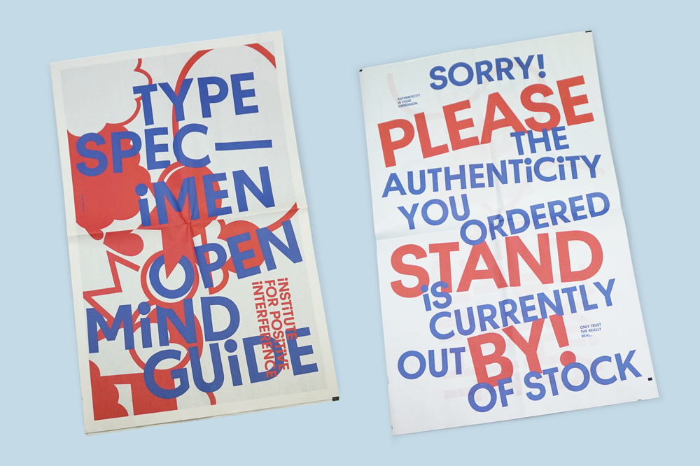 Type Specimen Open Mind Guide newspaper. Print your own newspaper with Newspaper Club.