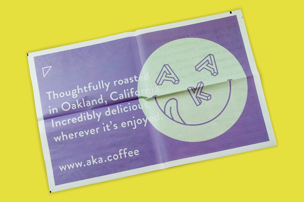 AKA Coffee newspaper printed by Newspaper Club