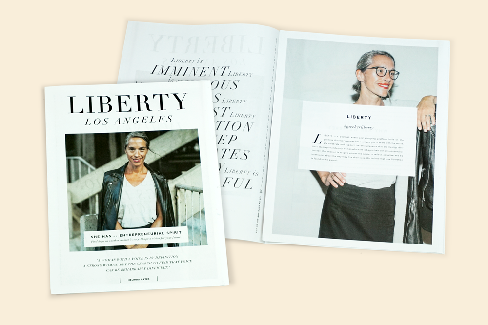 Liberty Los Angeles newsprint catalogue. Printed by Newspaper Club.