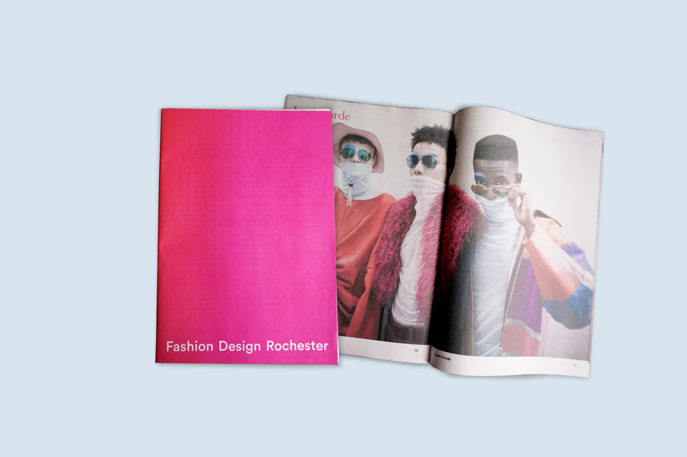 End of year magazine featuring some of the work from our graduating students on the Fashion Design Course at the University for the Creative Arts in Rochester. Printed by Newspaper Club.