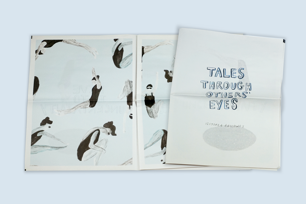 Tales Through Others' Eyes illustrated newspaper by Victoria Galloway. Printed by Newspaper Club.