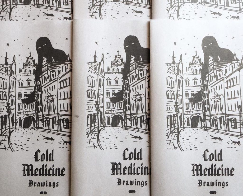 Cold Medicine Drawings newspaper by illustrator Rob Wilson