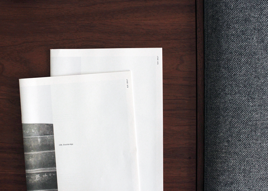 Instrmnt's clean and minimal newsprint catalogue. Printed by Newspaper Club.