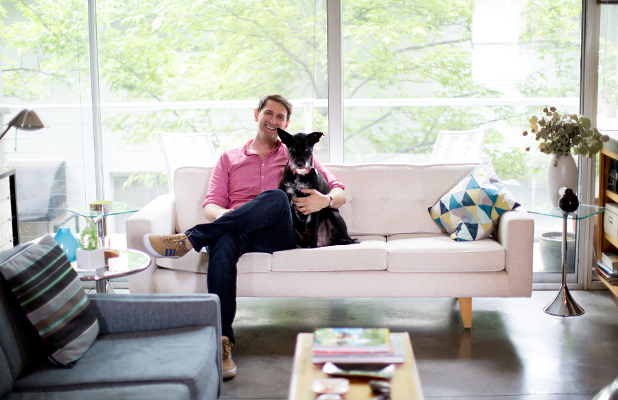 Rob Wilson and his dog Maisie