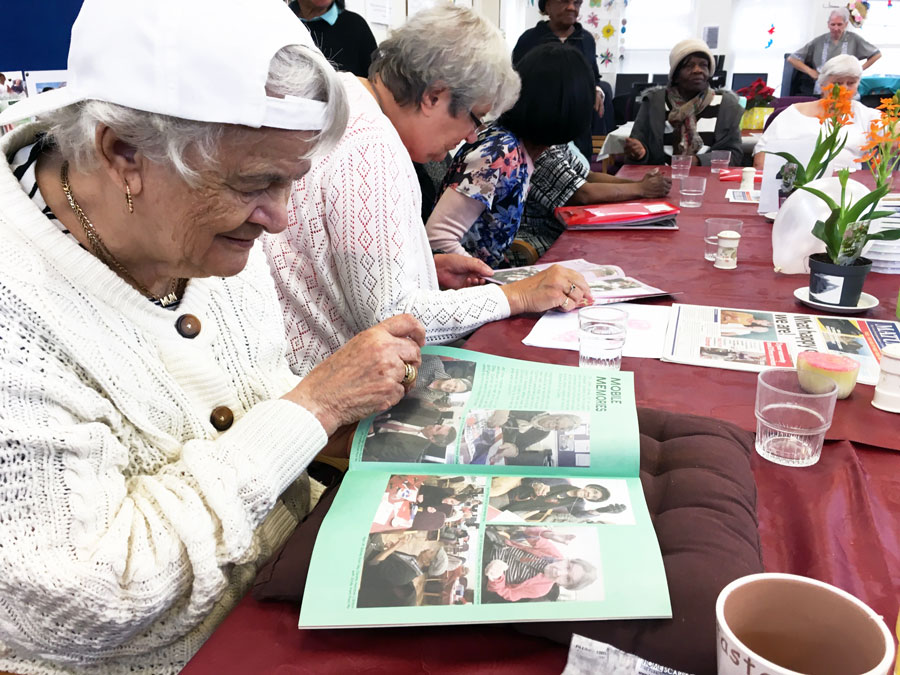The TimeCapsule Project at Age UK's Stones End Day Centre in South London.