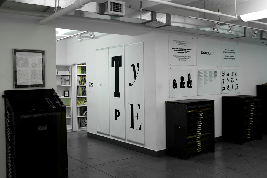 NYTMag Type exhibition at the Type Directors Club in New York City