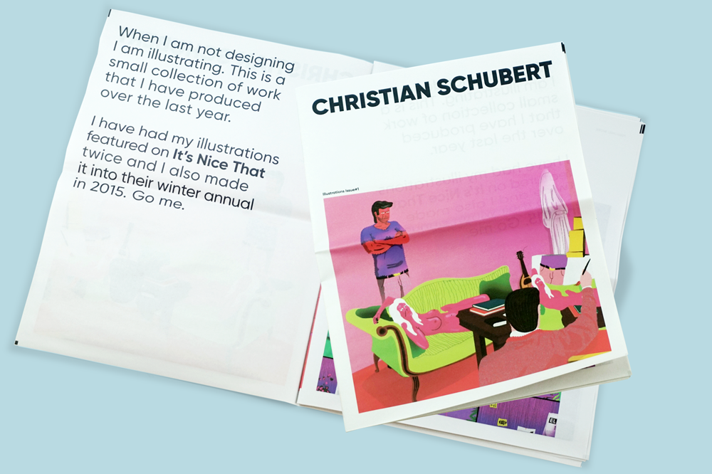 Christian Schubert illustration portfolio newspaper
