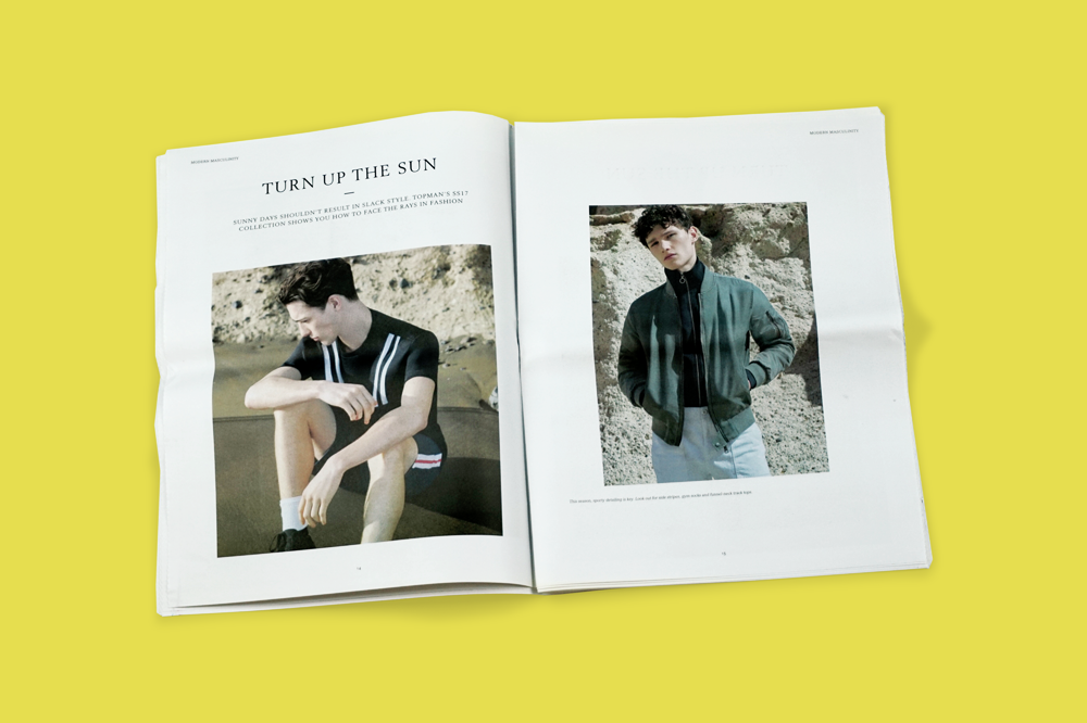 "Topman explores ""modern masculinity"" with a newsprint magazine"